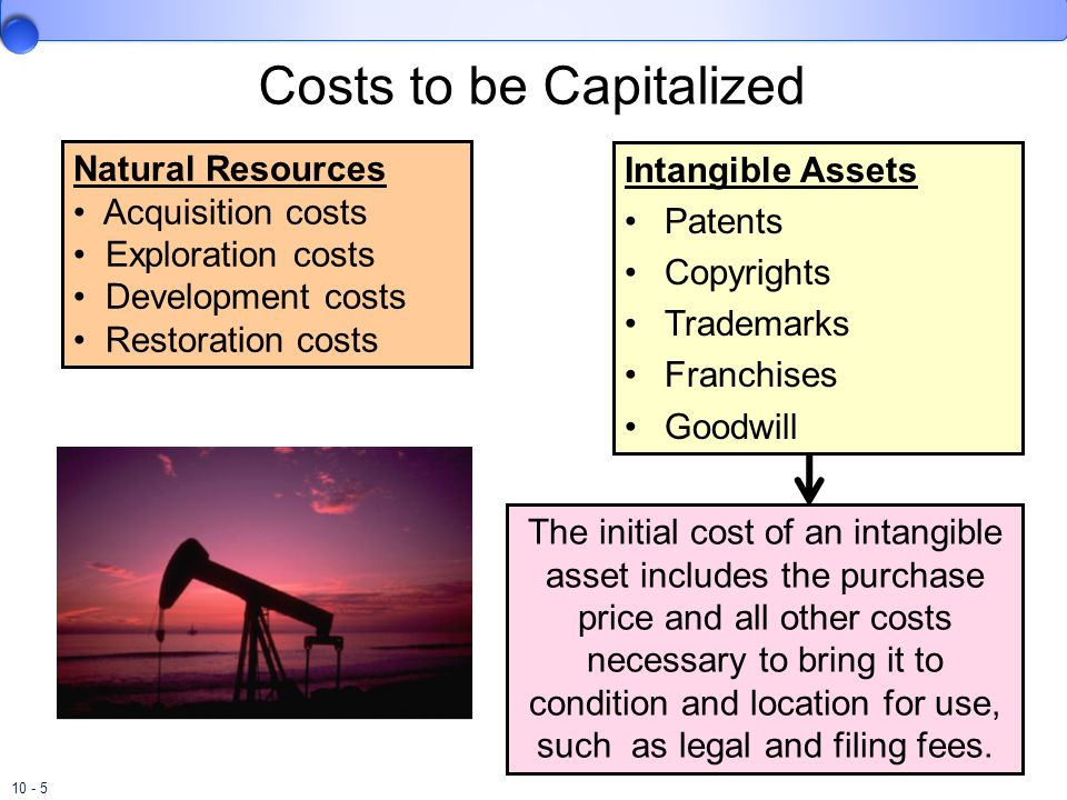 Costs to be Capitalized