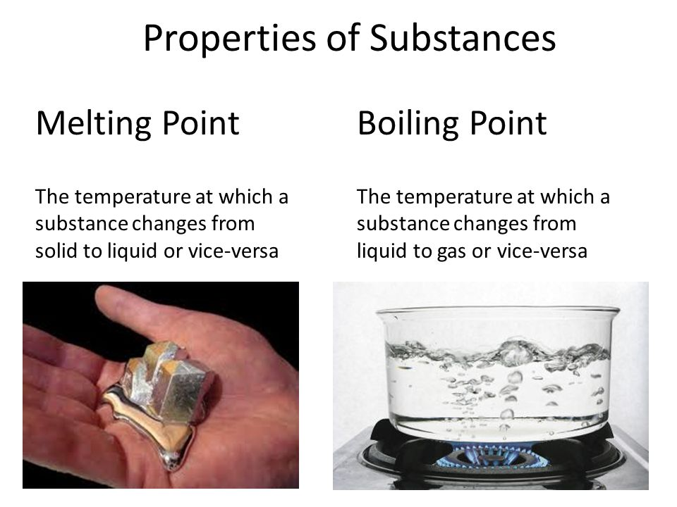 Properties of Substances