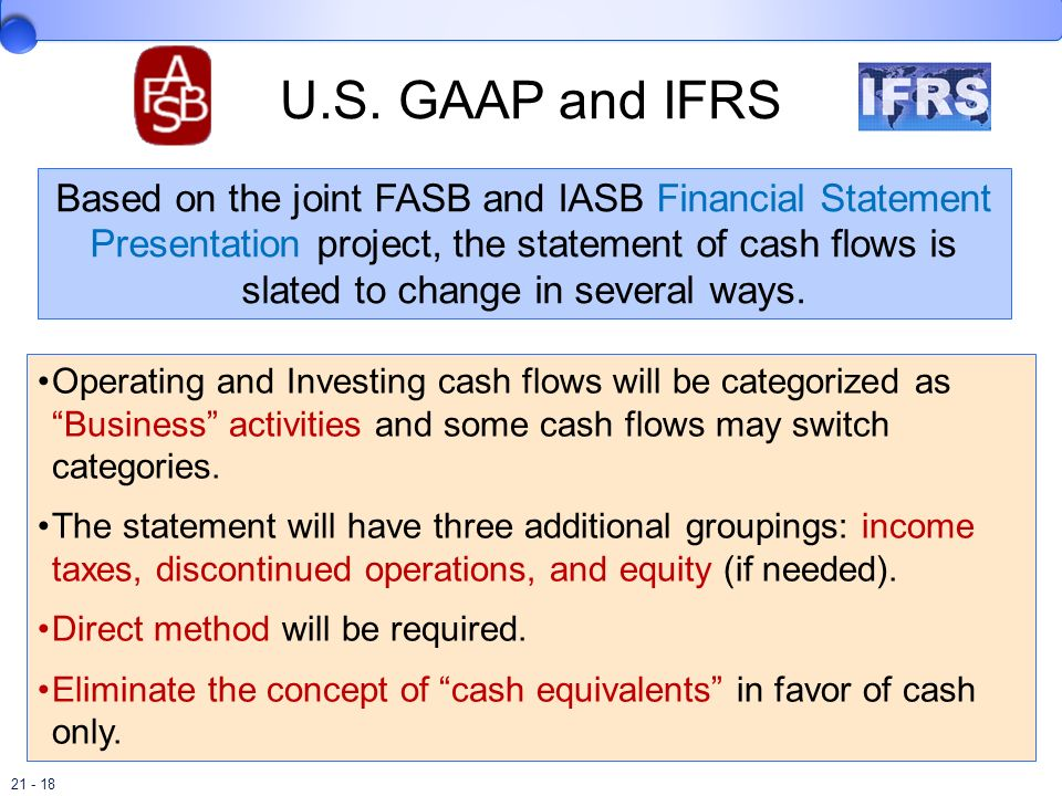 U.S. GAAP and IFRS