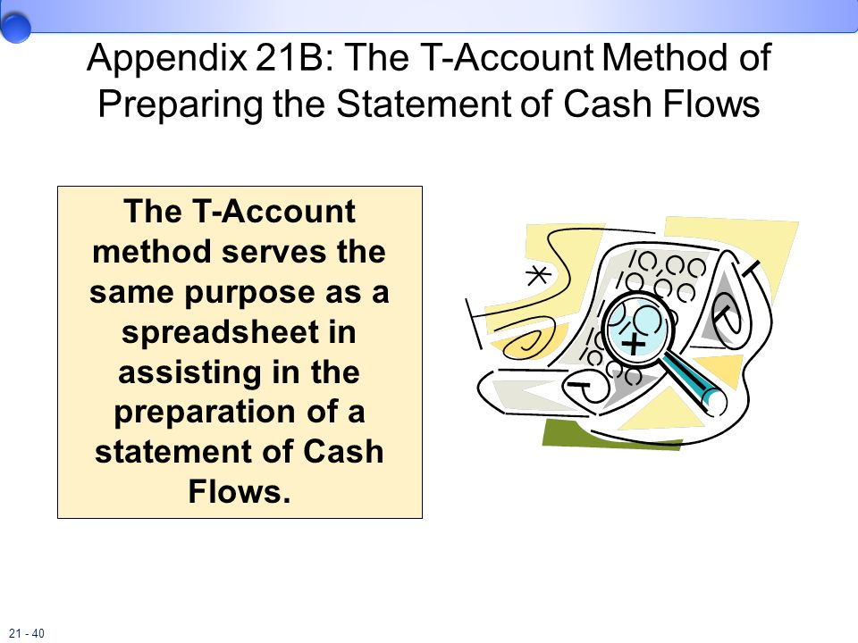 Appendix 21B: The T-Account Method of Preparing the Statement of Cash Flows
