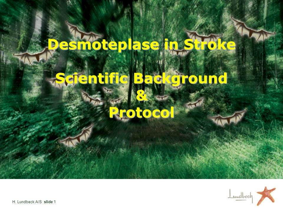 Desmoteplase in Stroke Scientific Background & Protocol