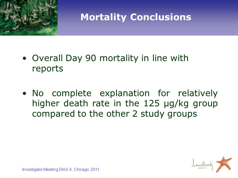 Mortality Conclusions