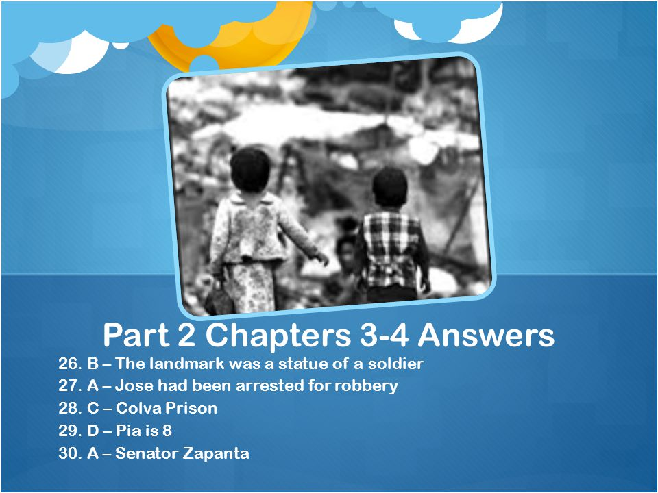 Part 2 Chapters 3-4 Answers