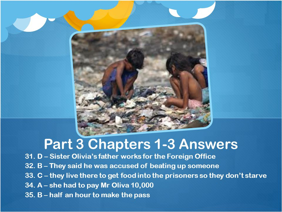 Part 3 Chapters 1-3 Answers