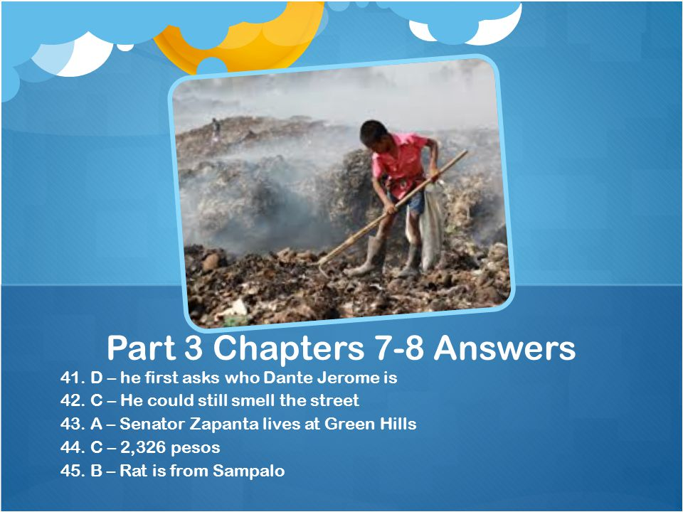 Part 3 Chapters 7-8 Answers