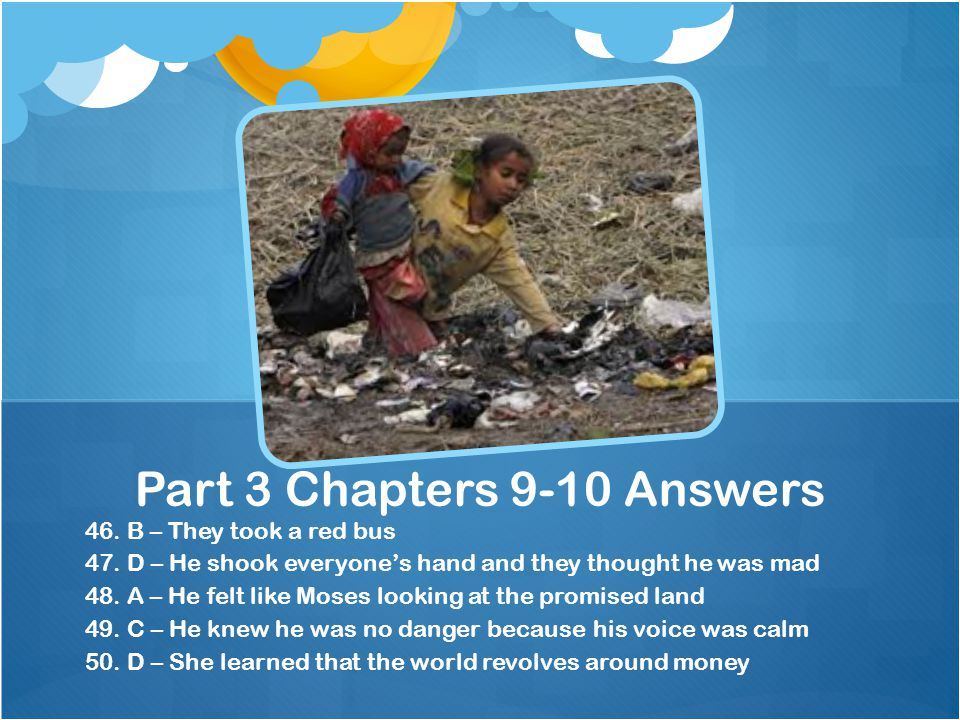 Part 3 Chapters 9-10 Answers