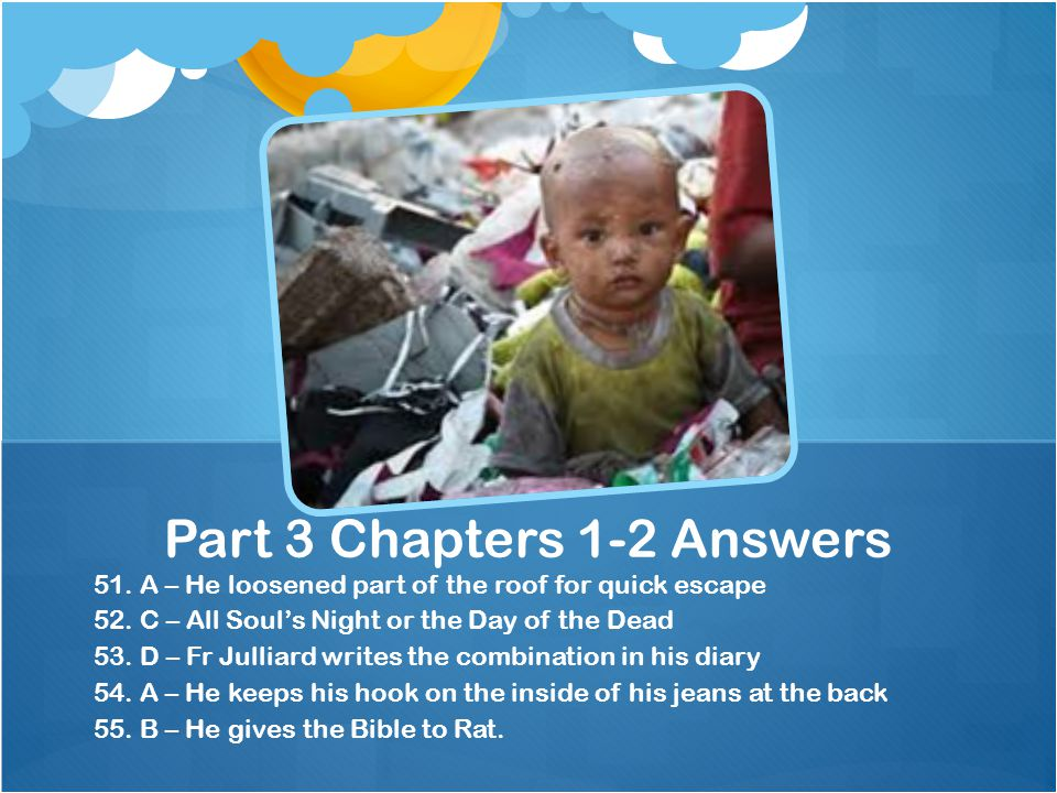 Part 3 Chapters 1-2 Answers