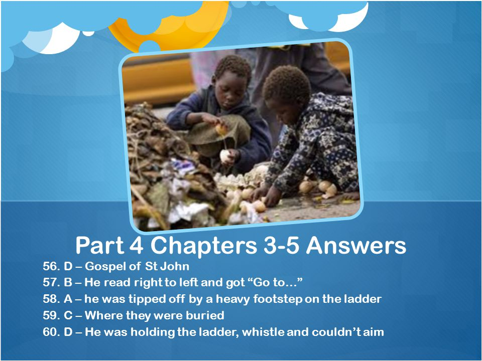 Part 4 Chapters 3-5 Answers