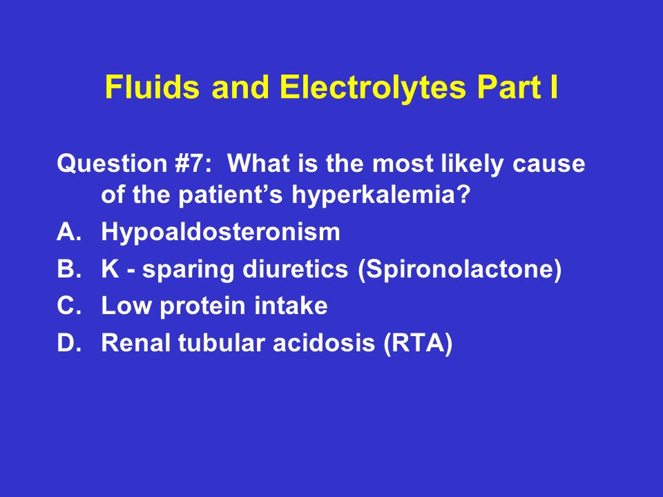 Fluids and Electrolytes Part I