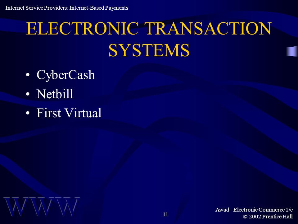 ELECTRONIC TRANSACTION SYSTEMS