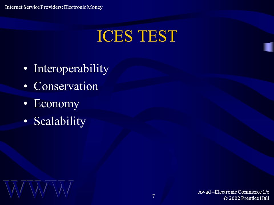 ICES TEST Interoperability Conservation Economy Scalability