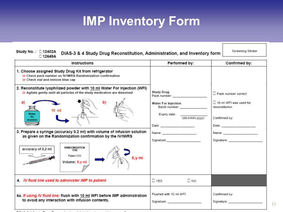 IMP Inventory Form