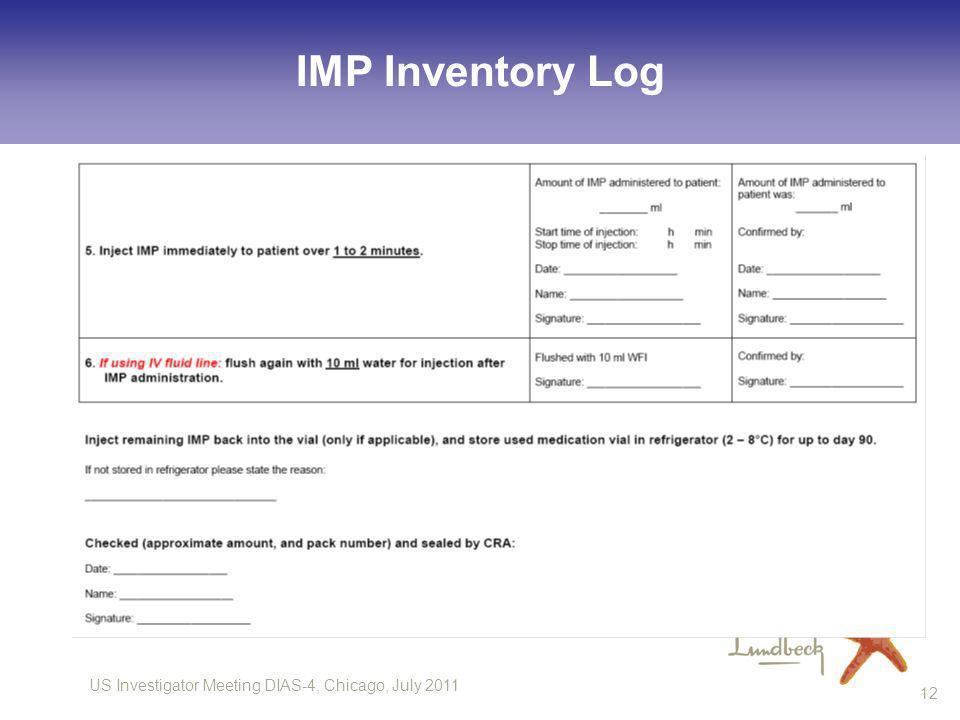 IMP Inventory Log