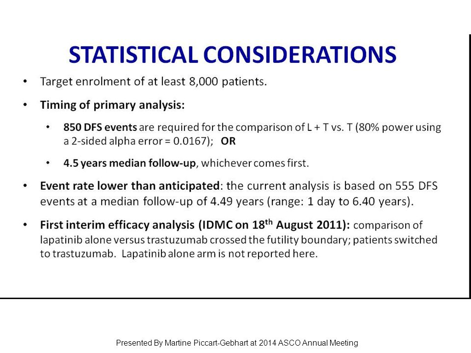 STAtiStical considerations