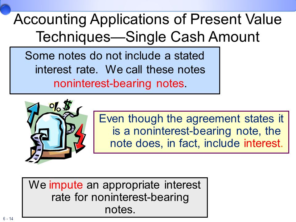 Accounting Applications of Present Value Techniques—Single Cash Amount