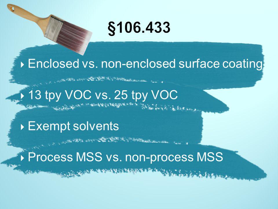 §106.433 Enclosed vs. non-enclosed surface coating