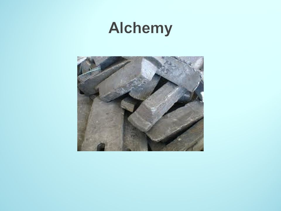 Alchemy This slide contains complete nonsense.