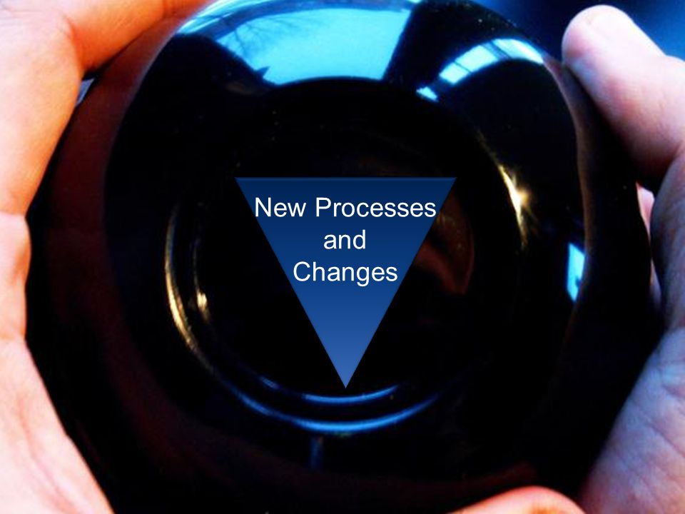 New Processes and Changes