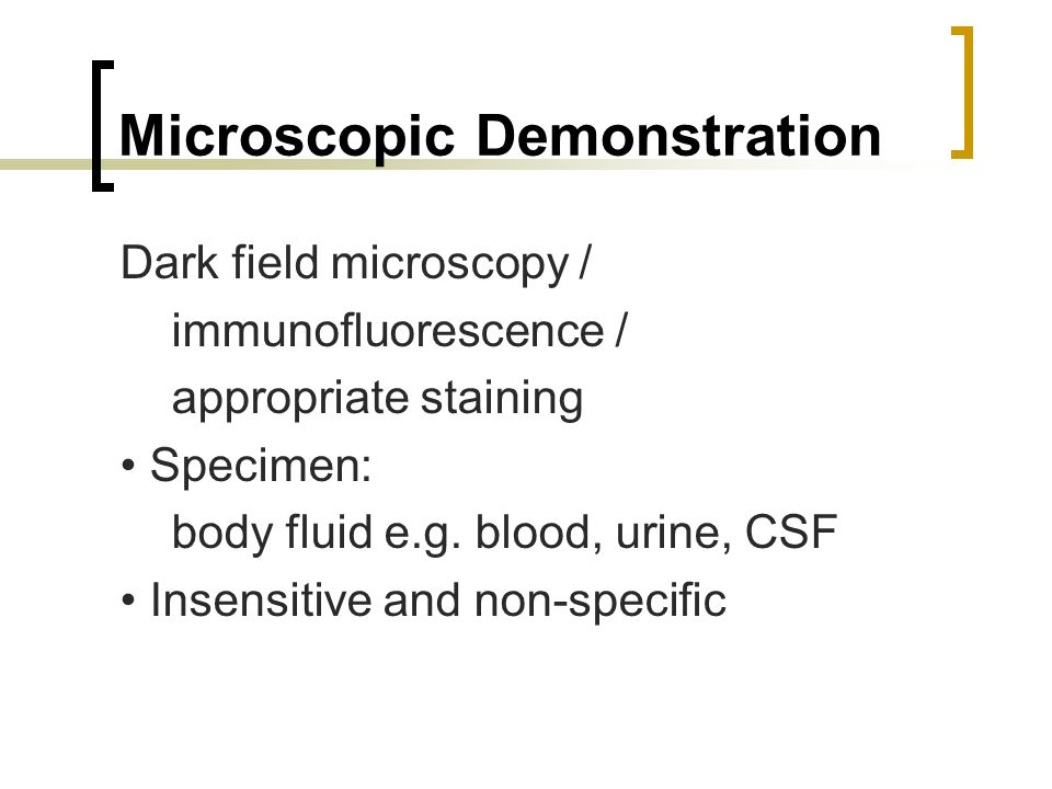 Microscopic Demonstration