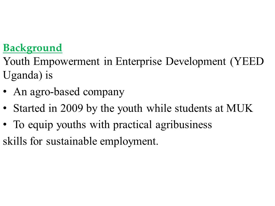 Started in 2009 by the youth while students at MUK