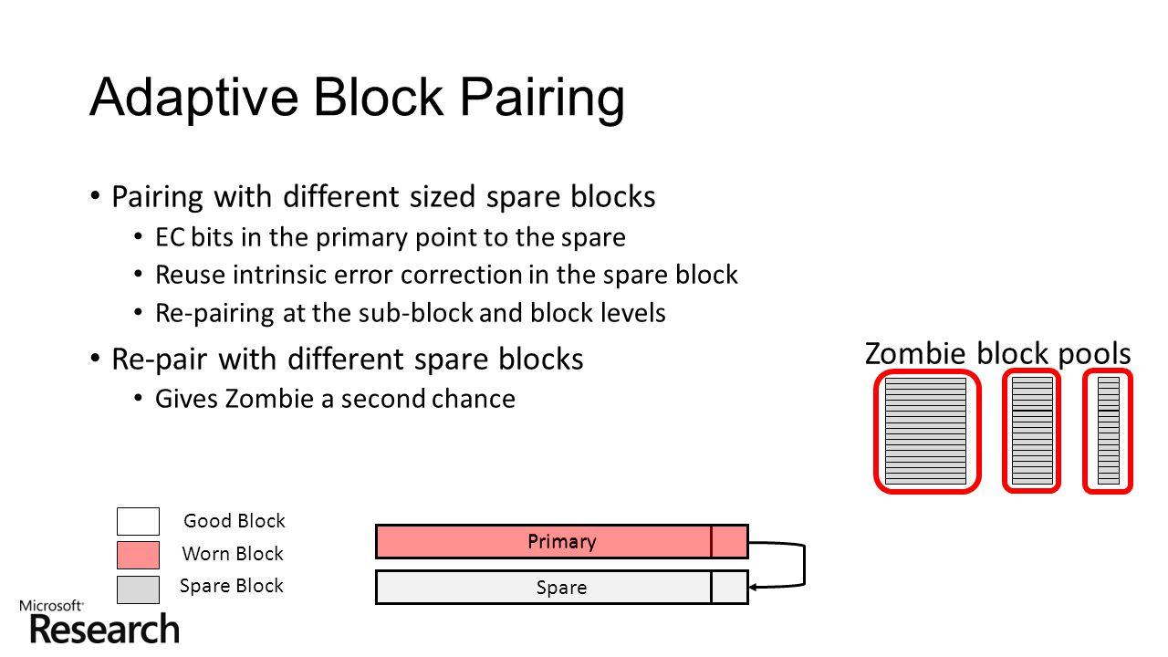 Adaptive Block Pairing