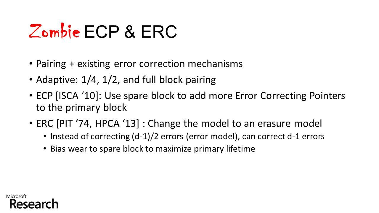 Zombie ECP & ERC Pairing + existing error correction mechanisms