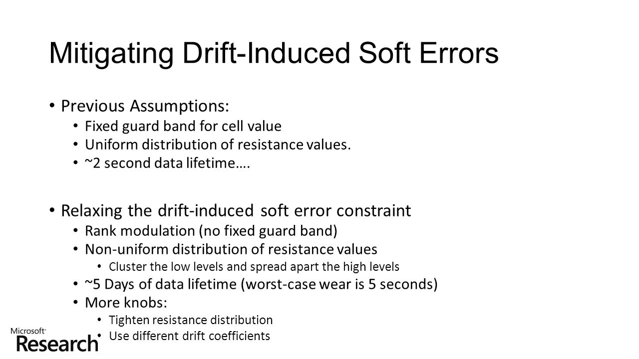 Mitigating Drift-Induced Soft Errors