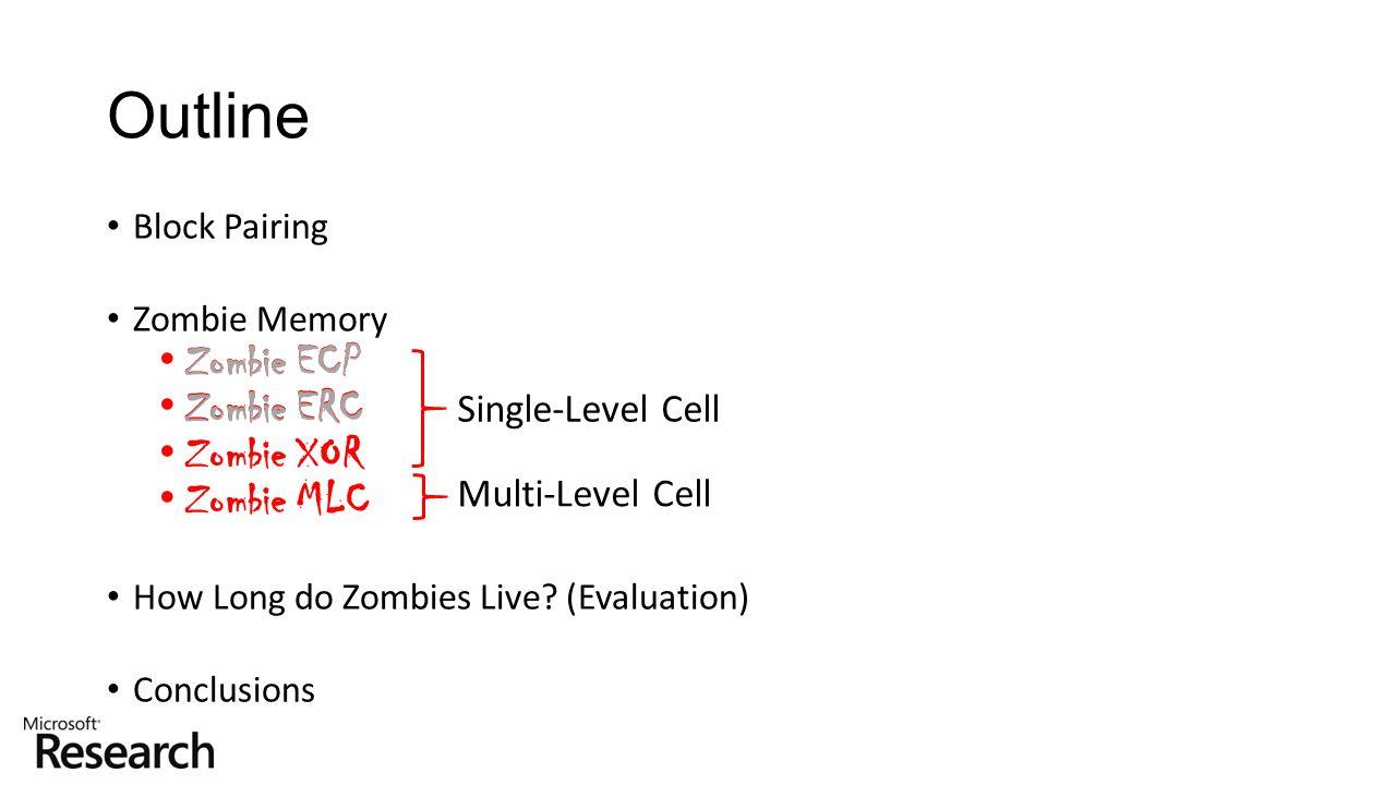 Outline Zombie ECP Zombie ERC Zombie XOR Zombie ECP Zombie MLC