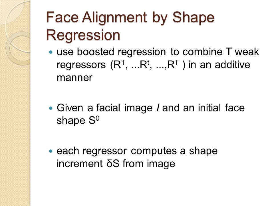 Face Alignment by Shape Regression