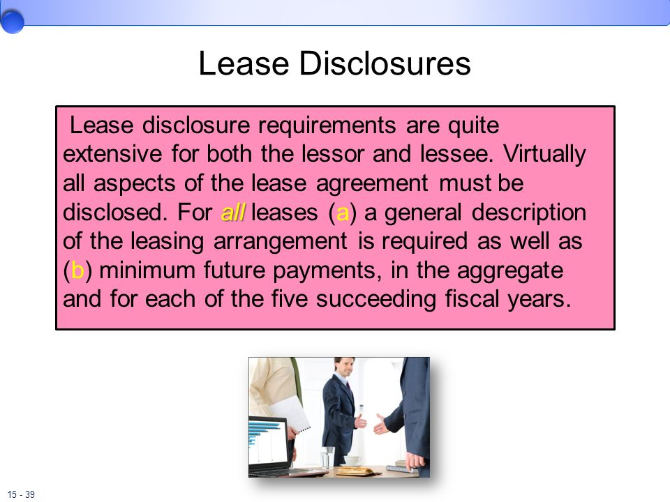 Lease Disclosures