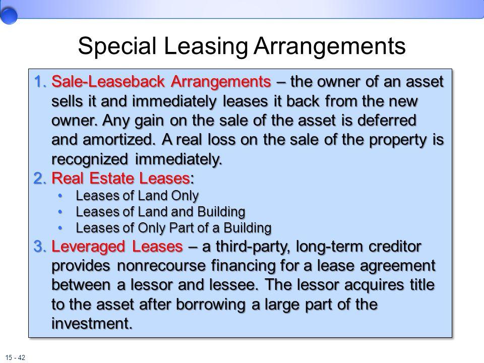 Special Leasing Arrangements