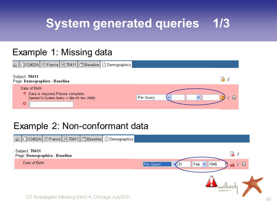 System generated queries 1/3