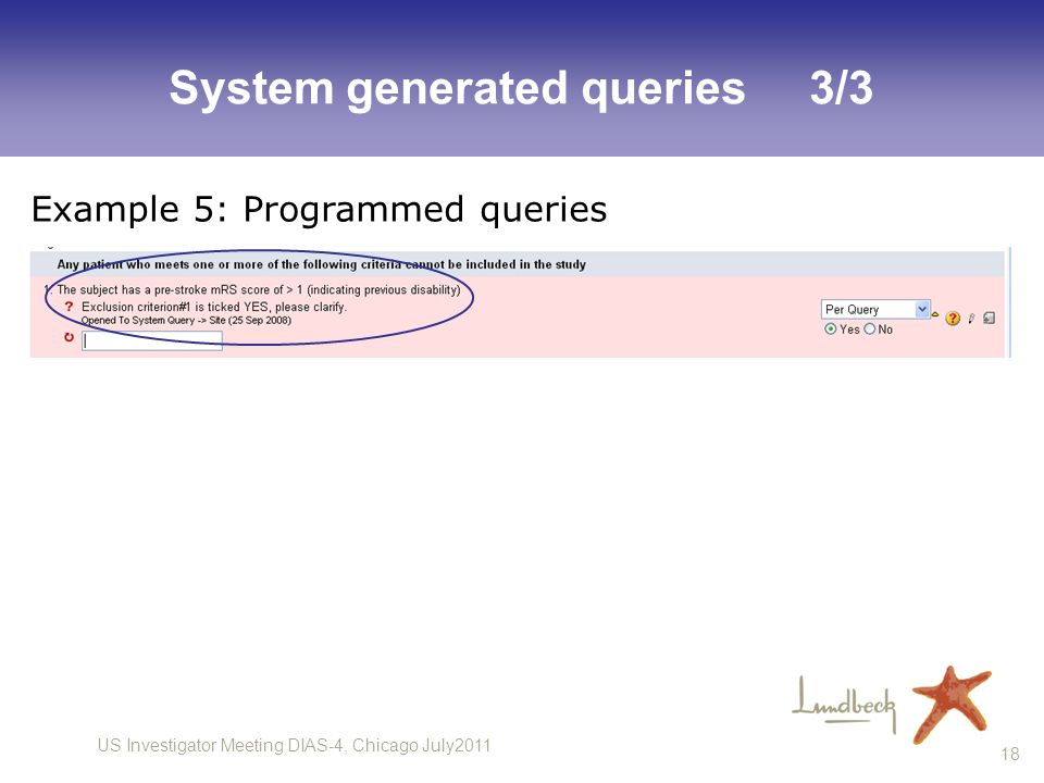 System generated queries 3/3