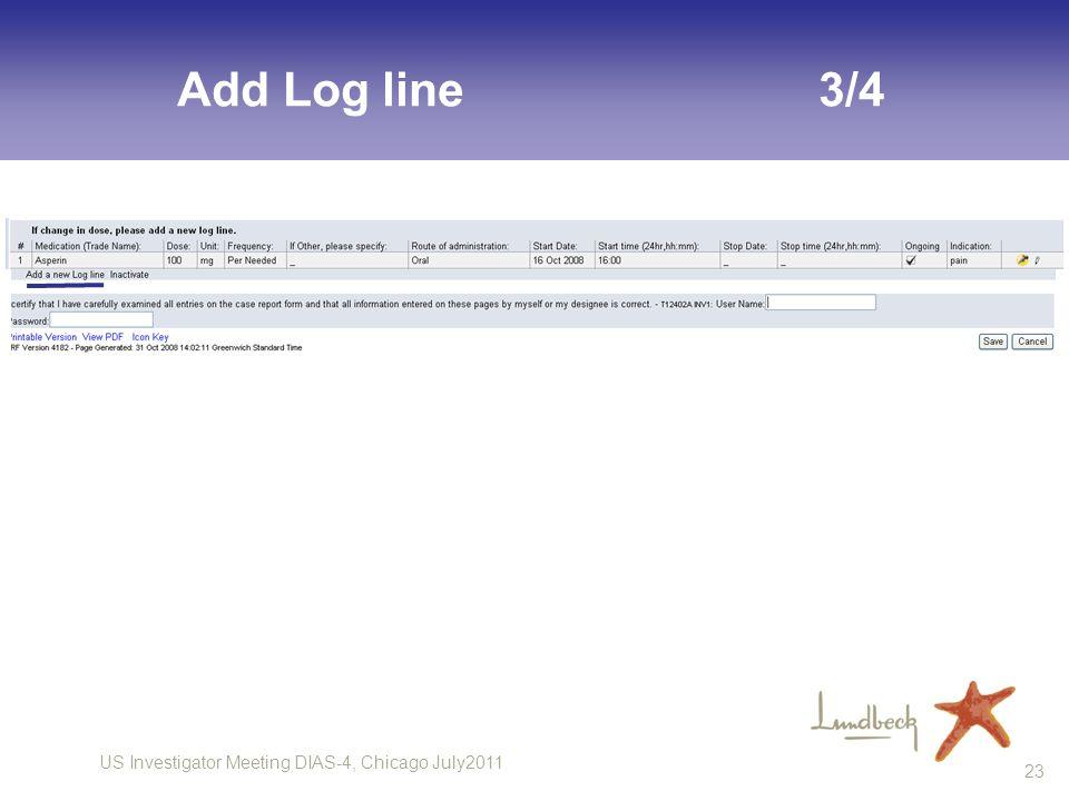 Add Log line 3/4