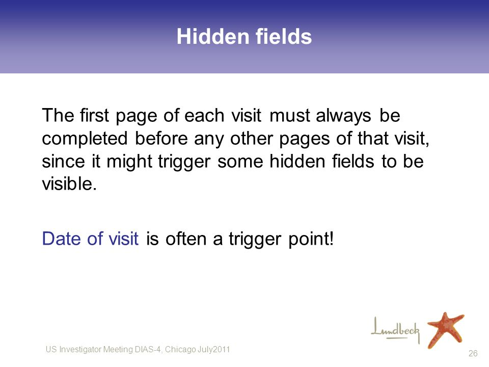 Hidden fields