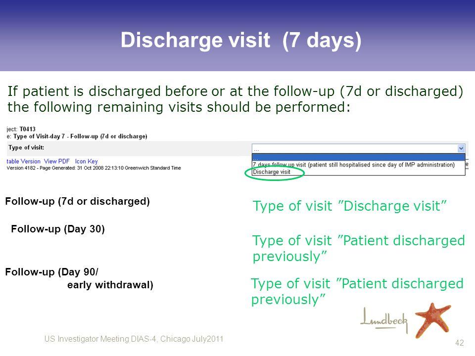 Discharge visit (7 days)