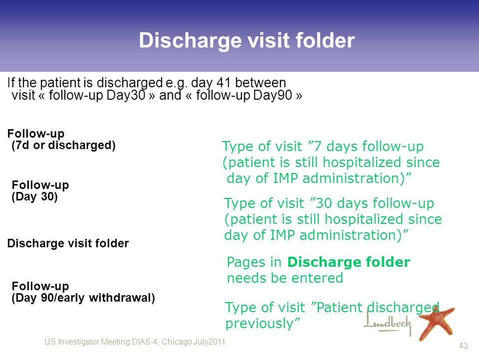 Discharge visit folder