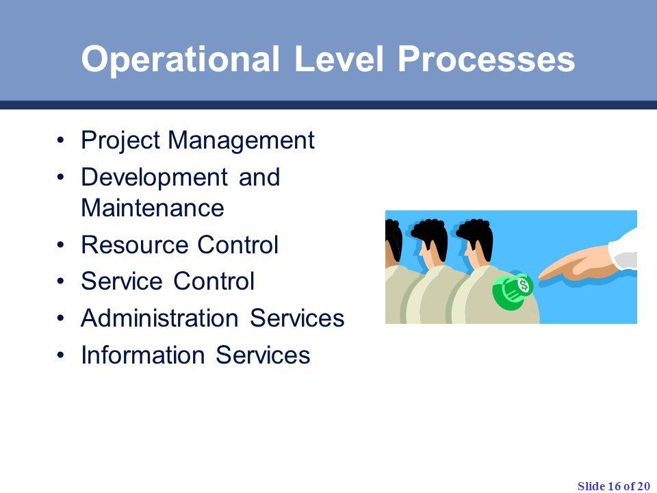 Operational Level Processes
