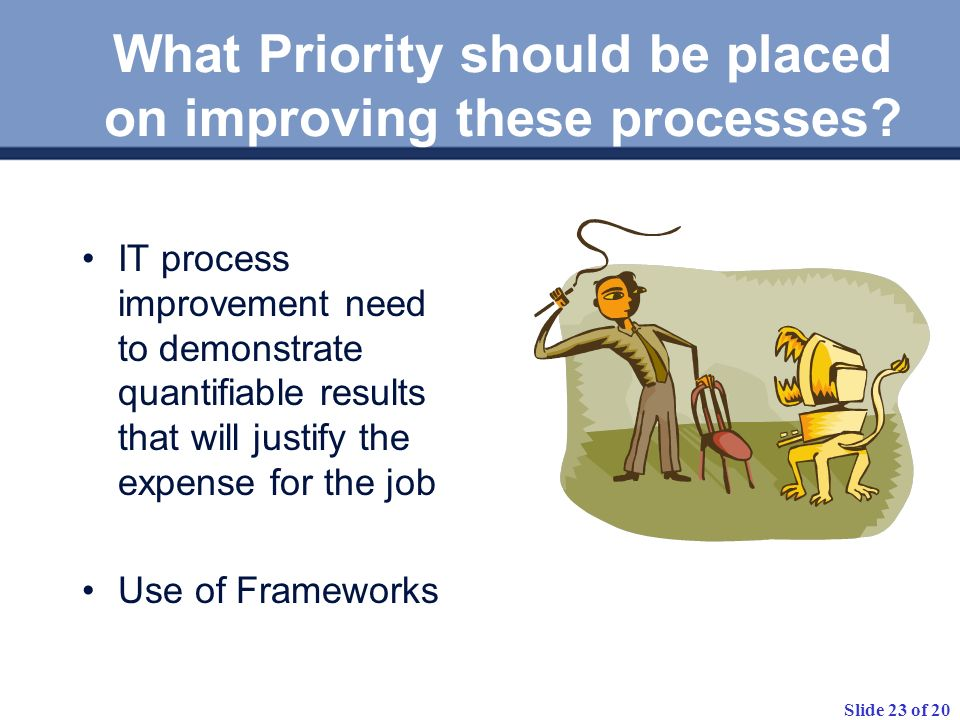 What Priority should be placed on improving these processes