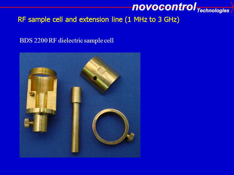 RF sample cell and extension line (1 MHz to 3 GHz)