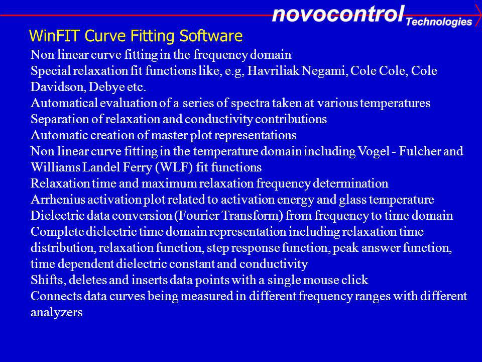 WinFIT Curve Fitting Software