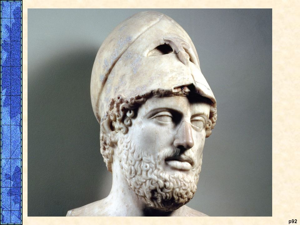 A bust of Pericles p92