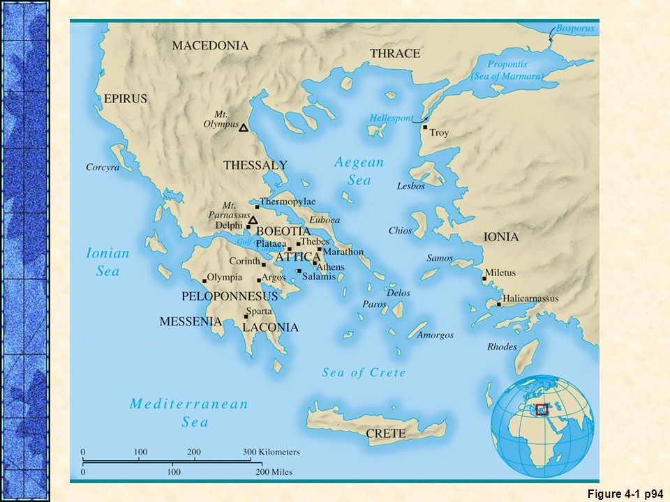 MAP 4. 1 Ancient Greece (c. 750–338 B. C. E. ). Between 750 and 500 B