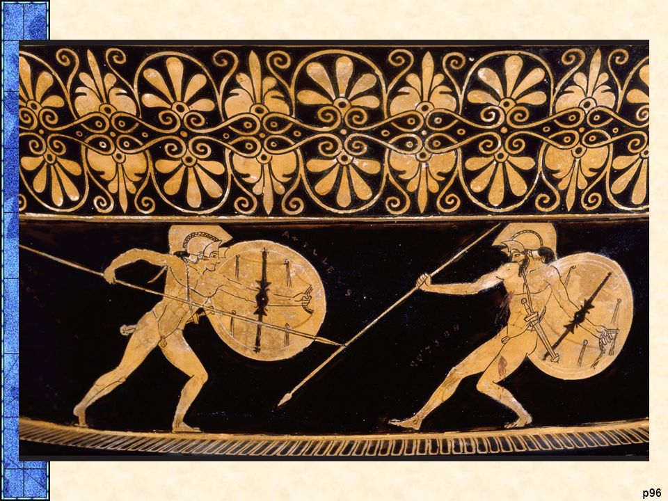 The Slaying of Hector. This scene from a late-fifth-century B. C. E