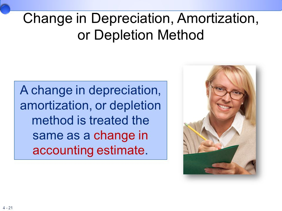 Change in Depreciation, Amortization, or Depletion Method