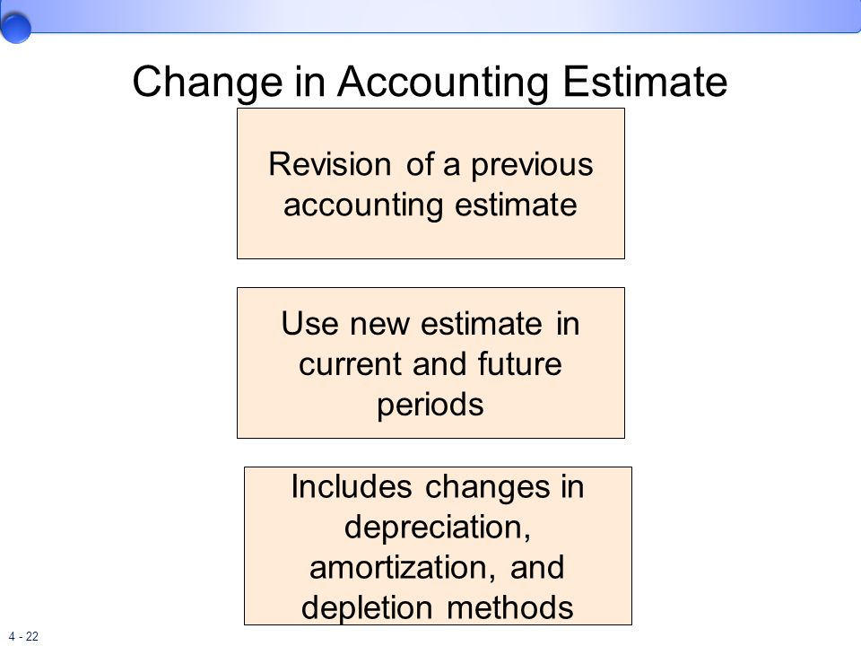 Change in Accounting Estimate