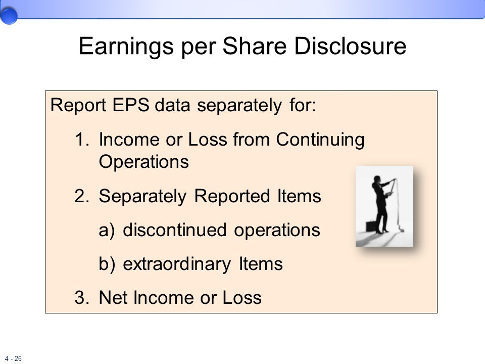Earnings per Share Disclosure