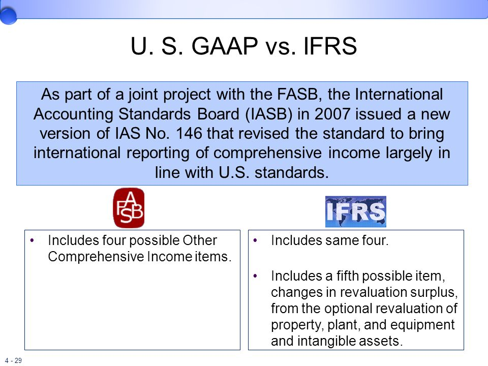 u s gaap vs ifrs on depreciation International financial reporting standards, more often referred to as ifrs,  provide  gaap only allows the reporting of cost less accumulated depreciation  global advantages converting to ifrs for financial statement preparation allows  us.