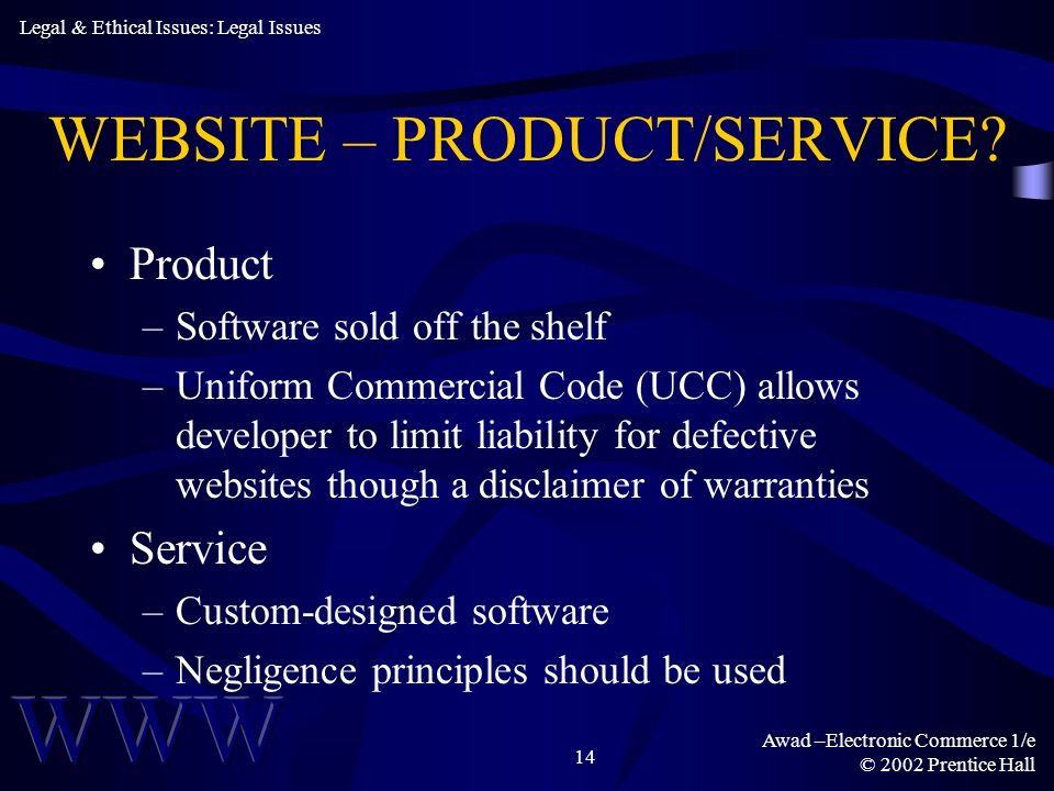 WEBSITE – PRODUCT/SERVICE