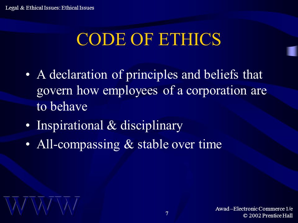 Legal & Ethical Issues: Ethical Issues